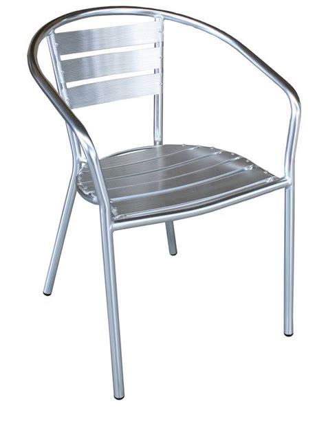 stores de bureau z alu chaise empilable en aluminium pour extérieur