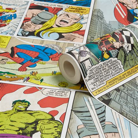 marvel comic strip childrens wallpaper departments