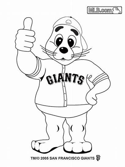 Coloring Giants Pages Baseball San Francisco Mlb