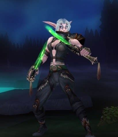 rogue elf wow night female undead warcraft tier sets