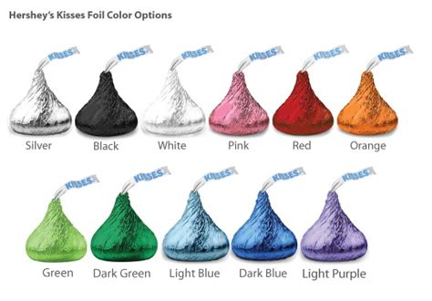 hershey kisses colors pers classic wedding colored foil hershey s kisses david