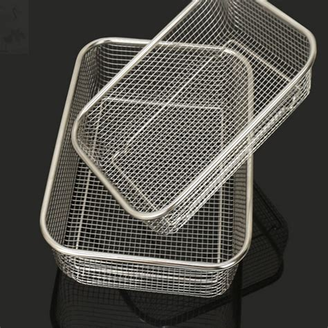 square thick stainless steel rectangle vegetable fruit washing kitchen utensil colander kitchen