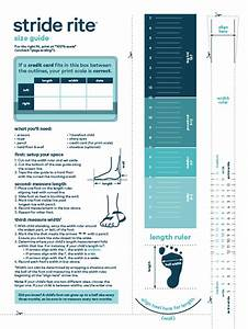 Stride Rite Printable Sizing Chart That Are Zany