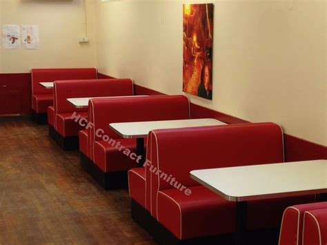 Upholstered Restaurant Booths, Fixed, Bench Bar Seating