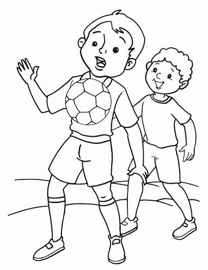 Soccer Indoor Coloring Pages