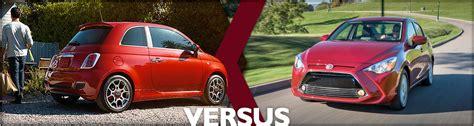 2016 Fiat 500 Vs 2016 Toyota Yaris Model Comparison