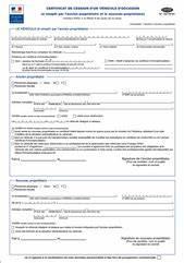 Document Pour Vente De Voiture : remplir un certificat de cession gratuitement en ligne ~ Gottalentnigeria.com Avis de Voitures