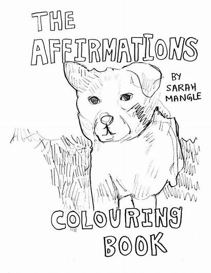 Positive Coloring Affirmations Pages Mangle Affirmation Quotes