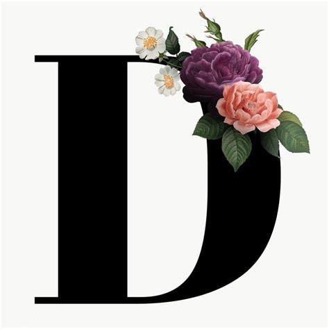 classic  elegant floral alphabet font letter  transparent png  image  rawpixelcom
