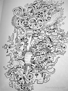 doodle, invasion, , a, crazy, coloring, book, by, kerby, rosanes