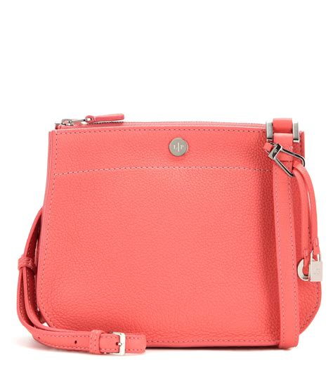 embossed faux leather shoulder bag lyst loro piana way leather shoulder bag in pink