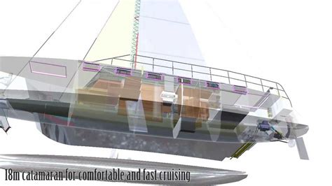Catamaran Cad Design by Wavescalpel Catamaran Cad Youtube
