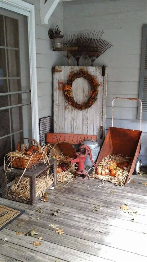 25 best ideas about primitive fall decorating on