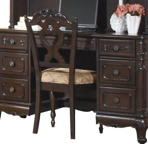 homelegance cinderella writing desk chair in cherry