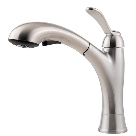 stainless steel kitchen faucet with pull spray kohler mistos single handle pull out sprayer kitchen