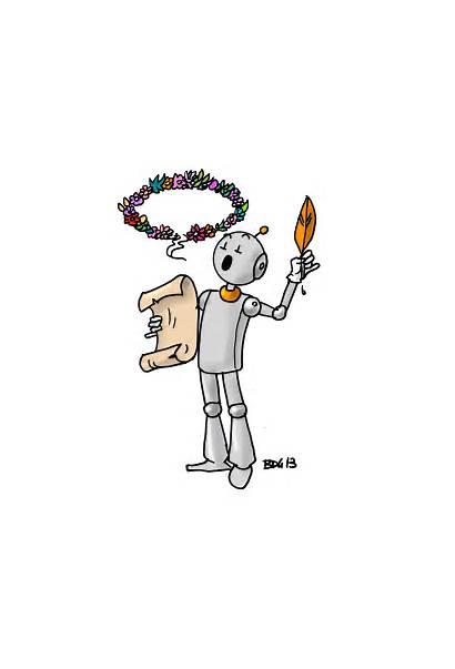 Bout Poesie Gomme Ecole Dessin Robots Est