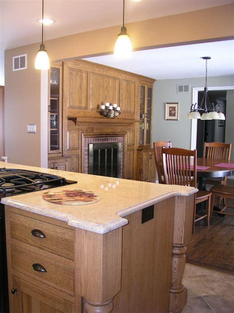 Quarter Sawn Oak Island   Kitchen Design Center
