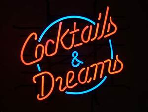 Cocktails & Dreams Retro Neon Sign