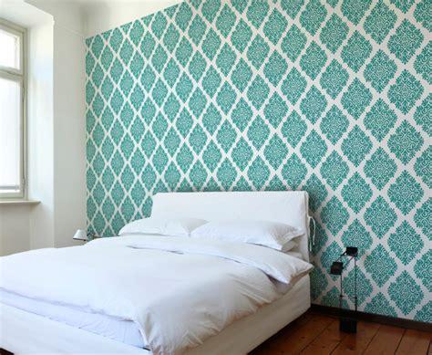 Teal Bedroom Wallpaper by French Garden Damask Teal Wallpaper Tiles Modern