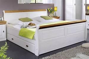 Bett 180x200 Weiß Mit Schubladen : massivholz bett 180x200 holzbett mit bettkasten kiefer massiv wei ~ Bigdaddyawards.com Haus und Dekorationen