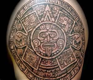 Aztec Sun Tribal Tattoo Design