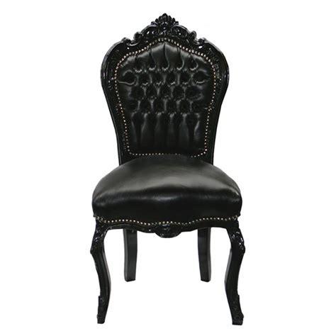 chaise cuir noir chaise baroque noir cuir louis xv simili cuir noir salle à