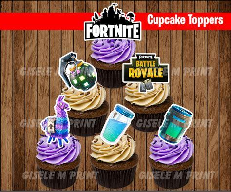 fortnite birthday fortnite cupcake toppers fortnite