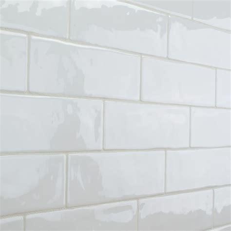 ceramic subway tile kitchen backsplash elida ceramica crafted white subway ceramic wall tile