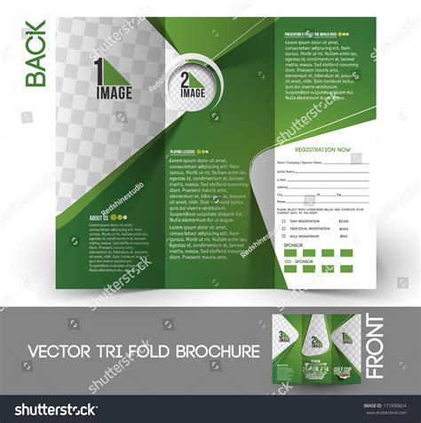 Brochure Vector Mock Up Template Millions Vectors Tri Fold Golf Tournament Mock Up Brochure Design Stock