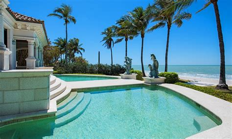 million mediterranean beachfront home  naples fl