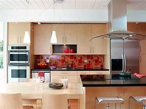 Red kitchen backsplash tile for Red kitchen backsplash ideas