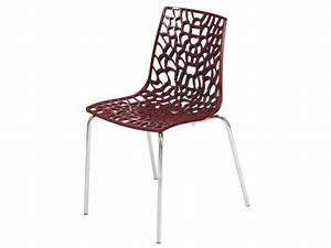 Conforama Chaises De Cuisine : chaise groove 2 coloris rouge vente de chaise conforama ~ Teatrodelosmanantiales.com Idées de Décoration
