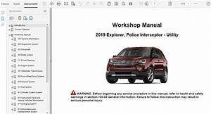 2019 Ford Explorer Repair Manual