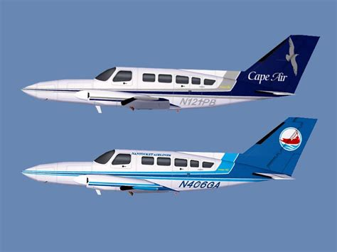 Cape Air/Nantucket Airlines Cessna 402C for FS2004