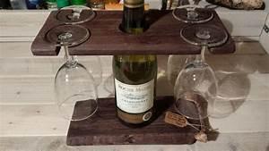 Support Verre à Vin : porte bouteille vin et verres avec planche d couper saucisson palettes co ~ Teatrodelosmanantiales.com Idées de Décoration
