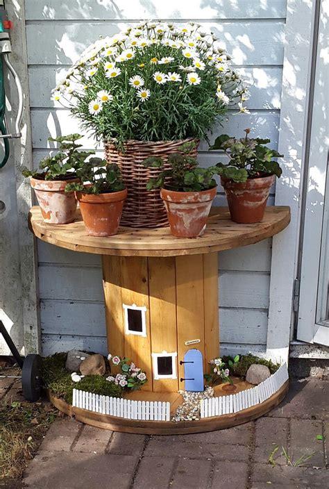Delad Kabeltrumma  Uteplats  Pinterest  Garten, Garten