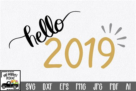 New Year's Svg Dxf Eps Png Jpg