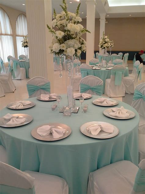 Quinceanera Simple Elegance In Tiffany Blue White