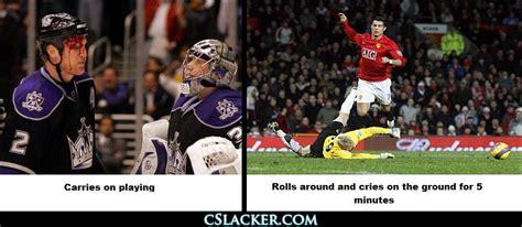 Soccer Hockey Meme - the gallery for gt hockey vs soccer injuries