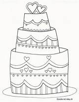 Coloring Pages Cake Printable Drawing Marriage Line Doodle Decorate Sheets Activity Wendy Cana Getdrawings Alley Getcolorings Cool Rocks Template Drawings sketch template