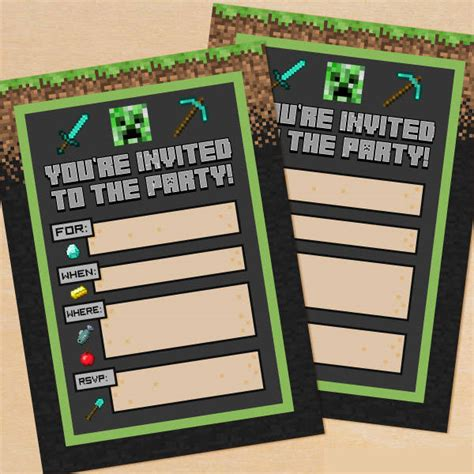 printable party invitations   psd vector ai eps
