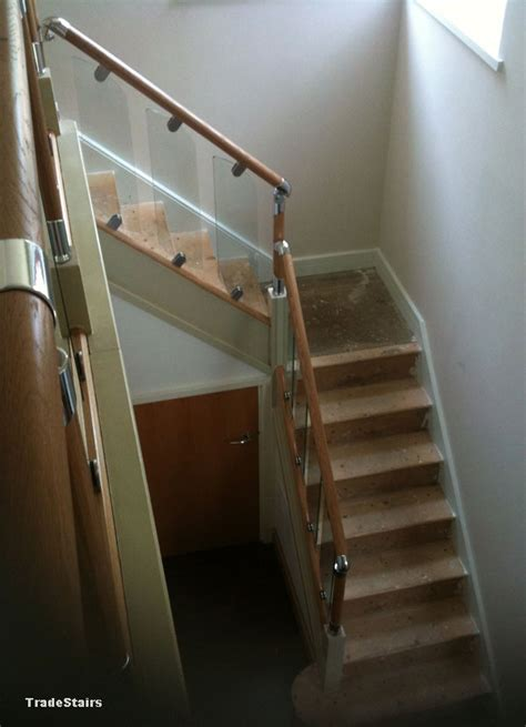 fusion banister s vision glass balustrade system oak handrails stair