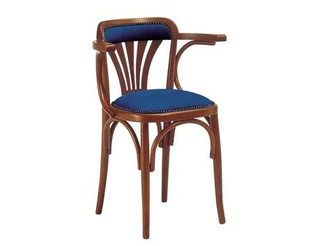 wooden chair with padded seat for bars and pubs idfdesign