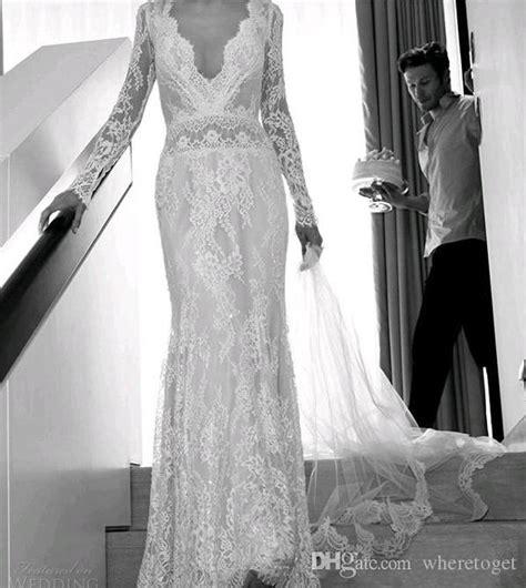 Lihi Hod Bohemian Beach Wedding Dresses Full Lace Long