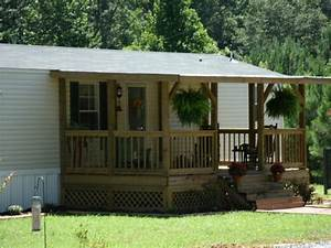 Simple front porch designs in manufactured home porch design for Front porch designs for mobile homes