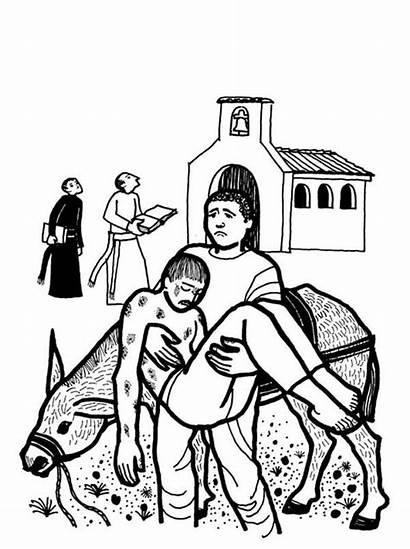 Samaritan Coloring Pool Bethesda Clipart Bible Netart