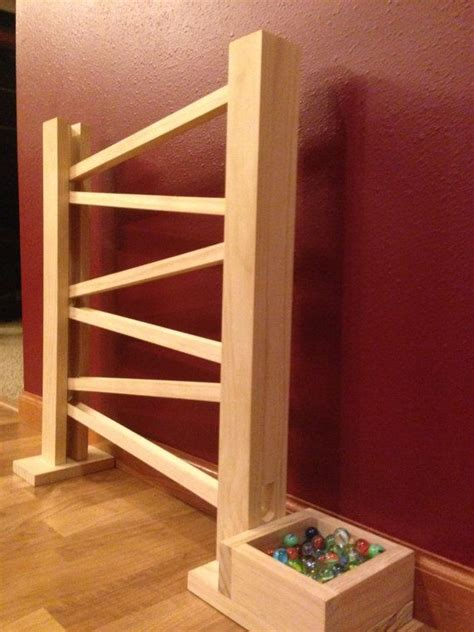 handmade wooden marble run  packerbackers  etsy