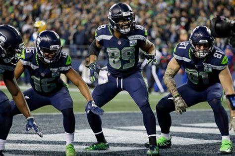 seahawks receivers lead league  touchdown celebration