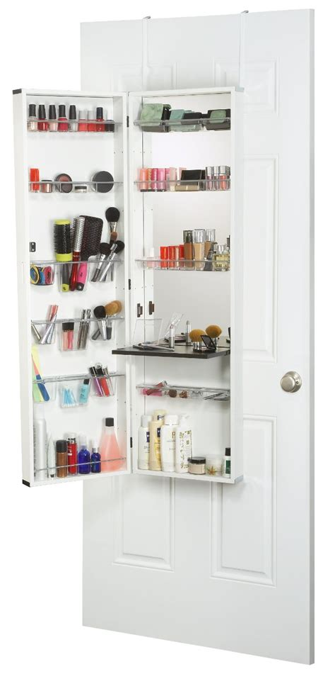 see through makeup desk over the door makeup organizer mycosmeticorganizer com