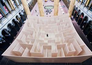 Paradoxical Maze Installations   Wooden Maze